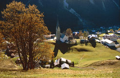 Oostenrijks dorp Stock Foto's