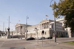 Oostenrijks Parlementsgebouw Stock Afbeeldingen