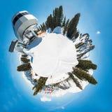 Oostenrijkse Alpen - 360 graadpanorama Stock Afbeeldingen