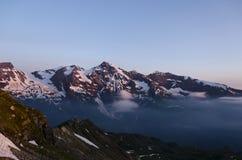 Oostenrijkse Alpen, Grossglockner bij zonsopgang Stock Afbeeldingen