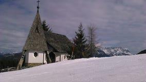 Oostenrijkse alpes, skying vakantie in alpen, trento royalty-vrije stock fotografie