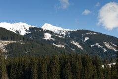 Oostenrijkse Alpiene Scène Stock Fotografie
