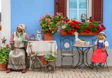 Oostenrijkse buitenhuisdecoratie stock fotografie