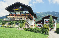 Oostenrijkse huizen royalty-vrije stock foto