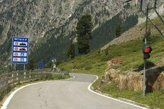 Oostenrijkse Italiaanse grens Royalty-vrije Stock Afbeeldingen