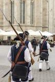 Oostenrijkse Militairen in Alba Carolina Citadel stock afbeeldingen