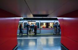 Oostenrijkse Ondergrondse Metro Stock Foto's