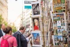 Oostenrijkse prentbriefkaaren royalty-vrije stock foto