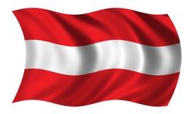 Oostenrijkse vlag Stock Afbeelding