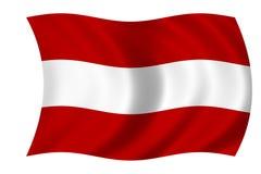 Oostenrijkse vlag Stock Foto's