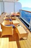 Oosterdam游轮的甲板 库存照片