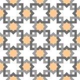 Oosters Arabisch minimaal lijn geometrisch decoratief patroon stock illustratie