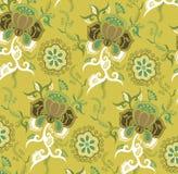 Oosters BloemenPatroon vector illustratie