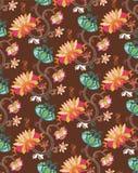Oosters BloemenPatroon stock illustratie