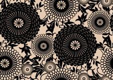 Oosters bloemenpatroon royalty-vrije illustratie