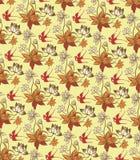 Oosters BloemenPatroon met Vogels royalty-vrije illustratie