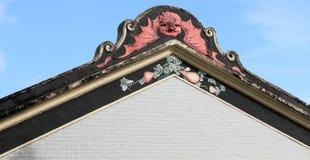 Oosters dakontwerp van Chinees dorpshuis Royalty-vrije Stock Foto