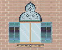 Oosters Gesierd venster Royalty-vrije Stock Foto