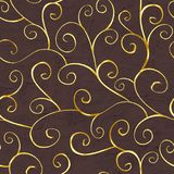 Oosters gouden naadloos patroon Royalty-vrije Stock Afbeelding