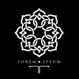 Oosters het embleemmalplaatje van het geometrisch ontwerp Arabisch patroon Royalty-vrije Stock Afbeeldingen