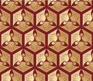 Oosters - Japanner - Naadloos Patroon royalty-vrije illustratie