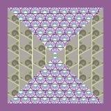 Oosters motief als achtergrond met kleurrijk halve cirkelskader Stock Afbeeldingen