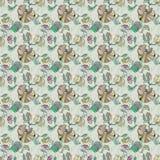 Oosters Naadloos Bloemenpatroon Stock Afbeeldingen