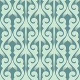 Oosters naadloos patroon met 3D effect Royalty-vrije Stock Afbeeldingen