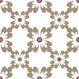 Oosters naadloos patroondamast arabesque en bloemenelementen t Stock Afbeelding