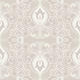 Oosters patroon met damast, arabesque en bloemenelementen vector illustratie