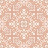 Oosters patroon met damast, arabesque en bloemenelementen Naadloze abstracte achtergrond royalty-vrije illustratie