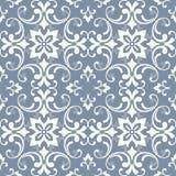 Oosters patroon met damast, arabesque en bloemenelementen Naadloze abstracte achtergrond stock illustratie