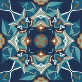 Oosters traditioneel de goudvis vierkant patroon van de lotusbloembloem Royalty-vrije Stock Afbeelding