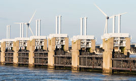 Oosterschelde delta works Royalty Free Stock Image