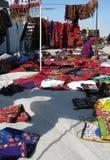 Oosterse bazaarvoorwerpen - het kopen scène Stock Foto's