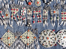 Oosterse bazaarvoorwerpen - juwelen stock fotografie
