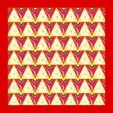 Oosterse beweging veroorzakend als achtergrond met gouden spiralen Stock Afbeelding