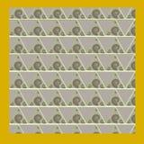 Oosterse beweging veroorzakend als achtergrond met gouden spiralen en groen en Royalty-vrije Stock Fotografie
