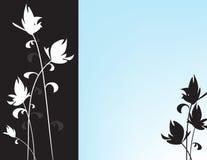 Oosterse Bloemen in Blauw vector illustratie
