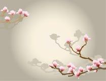 Oosterse bloemenachtergrond Stock Foto