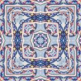 Oosterse collageachtergrond, naadloos kleurrijk patroon met heldere parels voor plakboek Caleidoscoop voor kussen, deken, hoofdku Stock Afbeeldingen