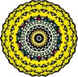 Oosterse dankbare liefde op bloemmandala vector illustratie