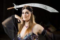 Oosterse dansersvrouw Royalty-vrije Stock Foto