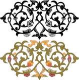 Oosterse decoratieve ontwerpelementen Stock Afbeeldingen
