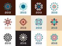 Oosterse geometrische symbolen Royalty-vrije Stock Afbeelding