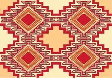 Oosterse geometrische tapijtvector Royalty-vrije Stock Afbeelding