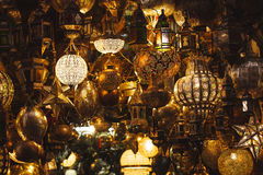 Oosterse lantaarn, Marrakech, Marokko Royalty-vrije Stock Afbeeldingen