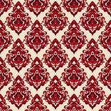 Oosterse motief van het damast het naadloze patroon Stock Foto