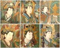 Oosterse oude muurschilderingen Royalty-vrije Stock Foto