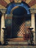 Oosterse paleiskamer royalty-vrije illustratie